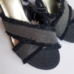 East 5th raw edge heeled sandal